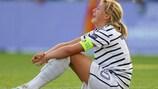 La capitaine française Claire Lavogez après la défaite en finale