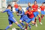 Alba Pomares, heroína da Espanha na final da época passada, em acção na primeira pré-eliminatória