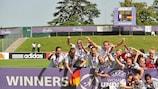 A Alemanha festeja a conquista do título