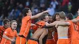 Les Pays-Bas célèbrent leur succès au bout du suspens