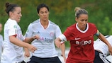 Long-serving Selina Zumbuhl in friendly action against FC Bayern München