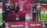 The draw took place at half-time of the FAW Women's Cup final in Llanelli