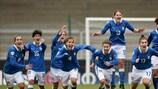 La joie des joueuses italiennes au coup de sifflet final