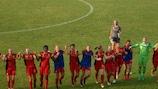 Les Belges fêtent leur première victoire contre le Belarus