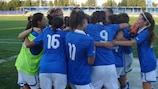Italiens U17 jubelt über den Sieg gegen die Schweiz