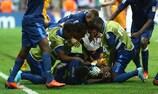 Los jugadores de Francia celebran el triunfo