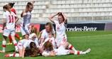 Die Spielerinnen aus der Schweiz bejubeln die Qualifikation für die EM
