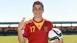 Lucía García marcó un 'hat-trick' en el partido ante Alemania