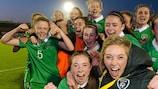 A vitória da Irlanda sobre a Inglaterra foi determinante para o apuramento das irlandesas