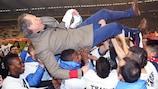 Le FC Bruges fête son récent triomphe en Coupe de Belgique