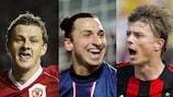 Ole Gunnar Solskjær, Zlatan Ibrahimović, Jari Litmanen und Jon Dahl Tomasson