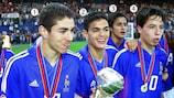 Francia celebra su victoria en el Europeo sub-17 de 2004