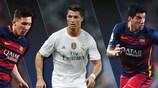 Melhor Jogador na Europa: Messi, Ronaldo ou Suárez