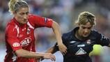 Un'azione della prima finale di UEFA Womens Champions League tra Lione e Potsdam