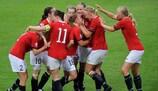 A Noruega comemora um triunfo na edição de 2011 rumo à final