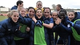 Francia celebra la clasificación tras vencer 0-3 a Suiza