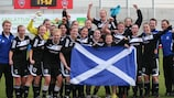 Glasgow celebrate making the round of 16 in 2011/12