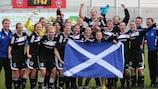 Il Glasgow esulta per la qualificazione agli ottavi nel 2011/12