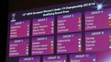 I risultati del sorteggio per il turno di qualificazione degli Europei Under 19 Femminili 2015/16