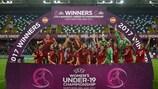 Сборная Испании отмечает свою победу