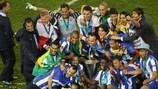 Porto feiert den Titelgewinn 2011 in Dublin