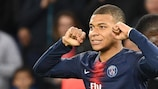 Paris striker Kylian Mbappé celebrates another goal