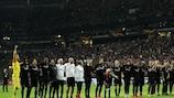 Eintracht celebrate reaching the semi-finals