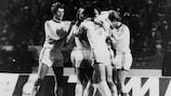 Il Bayern festeggia il trionfo del 1976