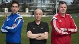 Von links nach rechts: Iñaki Vicandi Garrido, David Elleray und Rune Pedersen