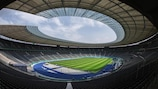 The Olympiastadion in Berlin hosts the 2014/15 UEFA Champions League final