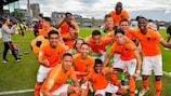 The Netherlands savour their U17 triumph after beating Italy in the final