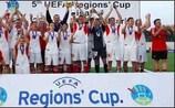 O Dolnoslaski, da Polónia, festeja a conquista da Taça das Regiões em 2007