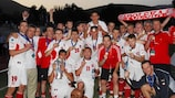 Dolnośląski celebrate winning the 2007 UEFA Regions' Cup