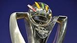 O troféu foi exibido no sorteio em Nyon