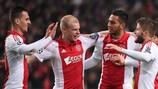 Ajax are among eight teams moving into the UEFA Europa League