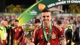 Borja Mayoral gewann die UEFA U19-Europameisterschaft mit Spanien letzten Sommer