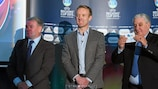 Il presidente del Comitato UEFA Calcio Giovanile e Dilettantistico Jim Boyce durante l'evento