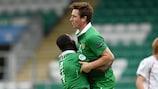 Rilwan Sule picks up Darren Dunne after his opener against South Moravia