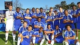 Chelsea will hope to retain the Lennart Johansson trophy