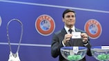 Javier Zanetti helped conduct the UEFA Youth League play-off draw