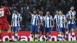 El Oporto celebra el segundo de los cinco goles anotados