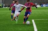 Timur Zhamaletdinov of CSKA in action against Rosenborg