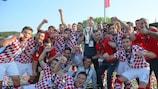 Lo Zagabria festeggia la vittoria in finale