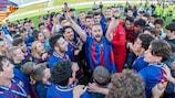 O Barcelona festeja o seu segundo título