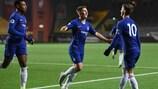 Chelsea celebrate scoring at Elfsborg