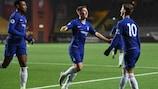 O Chelsea celebra um golo frente ao Elfsborg