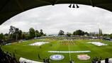 El Colovray Sports Centre antes de la final de 2018 entre el Chelsea y el Barcelona