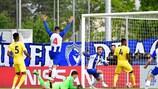 Diogo Queirós festeja após marcar o segundo e importante golo do Porto na final frente ao Chelsea