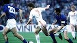 Gennadiy Lytovchenko in action against Italy