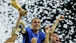 Fabio Cannavaro with the trophy